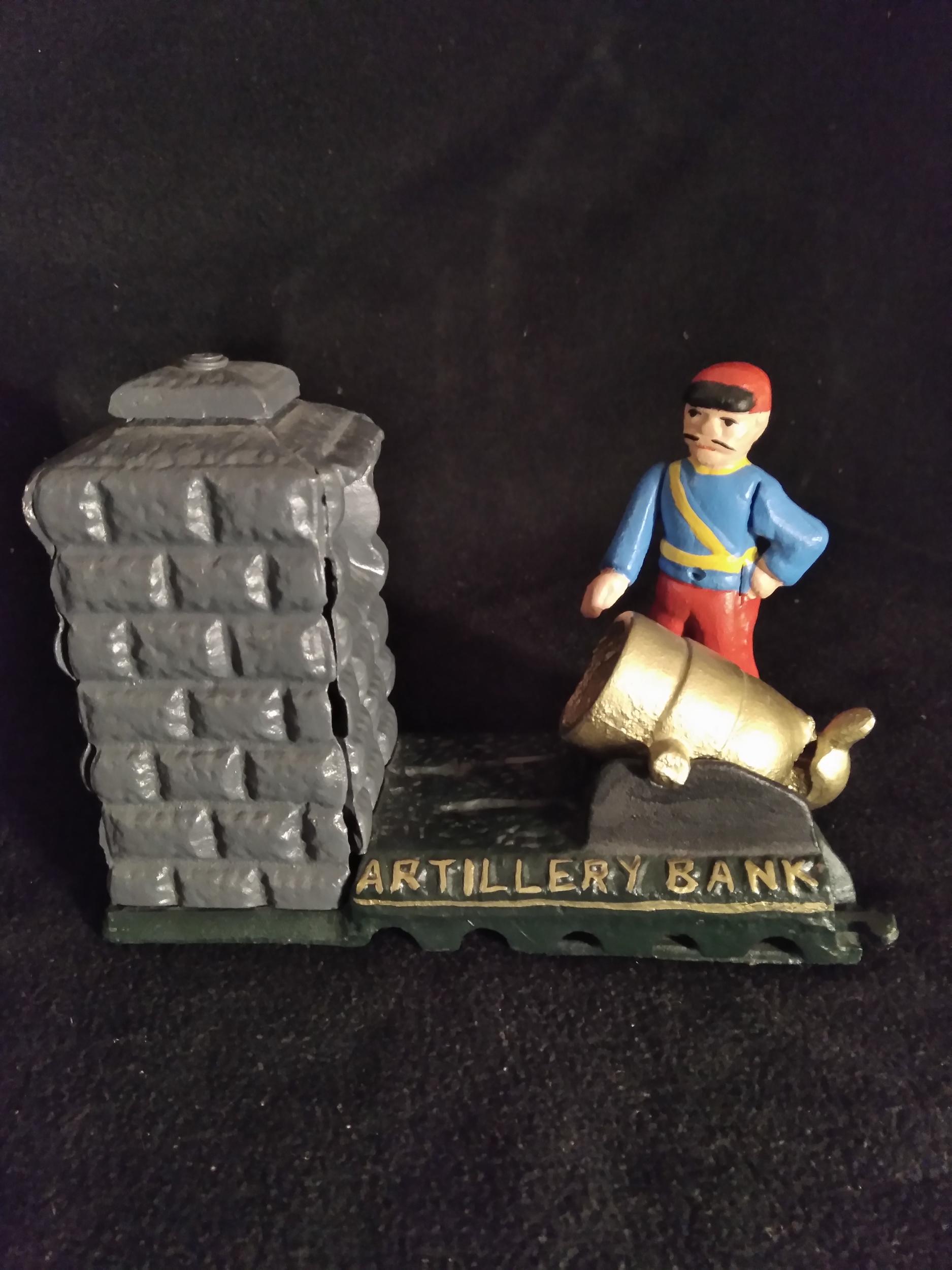 Tirelire mécanique Artillery bank