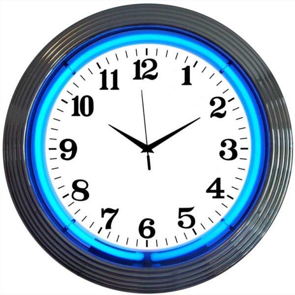 Horloge néon Bleu