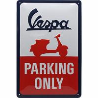 Plaque vespa parking only