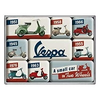 Lot de 9 magnets Vespa