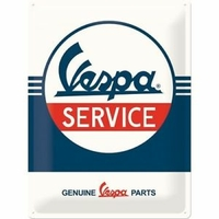 plaque métal Vespa service 40x30