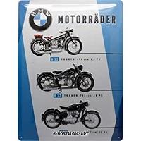 Plaque BMW moto vintage 30 x 40