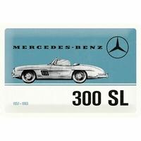 Plaque métal Mercedes 300 SL 30 x 20