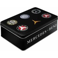 Boite métal Mercedes logos