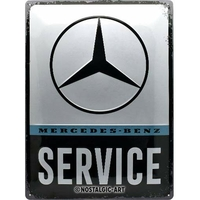 Plaque métal Mercedes service 30 x 40
