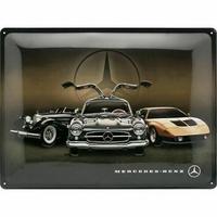 Plaque métal Mercedes historic 40 x 30