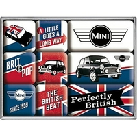 Lot de 9 magnets Austin Mini