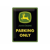 plaque john deere parking only 15 x 20