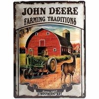 plaque John Deere vintage 30 x 40