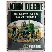 plaque John Deere farm équipement 30 x 40