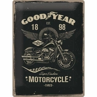 Plaque Goodyear motorcycles 30 x 40