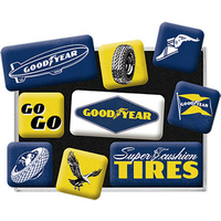 Lot de 9 magnets Goodyear