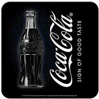 Lot de 5 dessous de verre coca-cola noirs