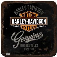 Lot de 5 dessous de verre Harley noirs
