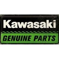 Plaque Kawasaki genuine parts 50 x 25
