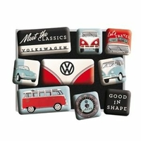Lot de 9 magnets vw classics