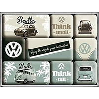 lot de 9 magnets vw combi bulli