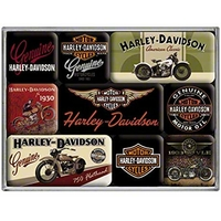 Lot de 9 magnets Harley