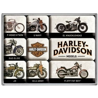 Lot de 9 magnets Harley vintage