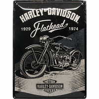 Plaque Harley Flathead 30 x 40