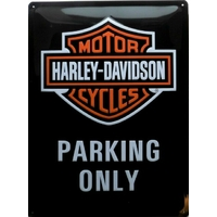 Plaque Harley parking only 30 x 40