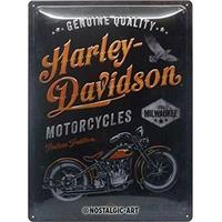 Plaque métal Harley motorcycles 30 x 40