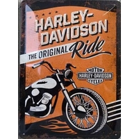 Plaque Harley ride 20 x 30