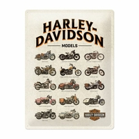 Plaque Harley models 30 x 40