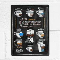 Plaque métal déco coffee 30 x 40