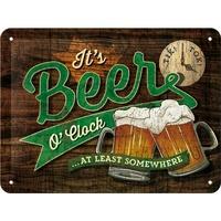 Plaque métal Beer 20 x 15