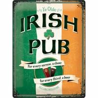 Plaque métal Irish pub 30 x 40