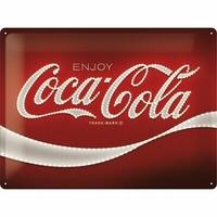 Plaque métal enjoy Coca-cola 40 x 30