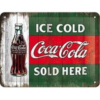 Plaque métal Coca-cola 20 x 15