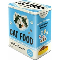 Boite métal nourriture chat