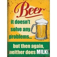 Plaque humoristique bière