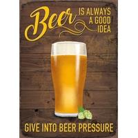 Plaque métal Bière