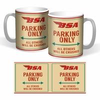 Lot de 2 mugs Bsa parking only