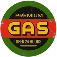 Plaque métal ronde Premium Gas