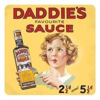 Lot de 5 dessous de verre Daddie's sauce