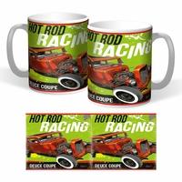 lot de 2 mugs hot rod racing