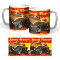Lot de 2 mugs hot rod speed racer