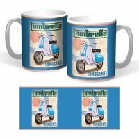 Lot de 2 mugs Lambretta innocenti