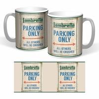 Lot de 2 mugs Lambretta parking only