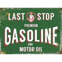 Plaque publicitaire premium Gasoline
