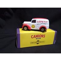 Camionnette publicitaire Morris Z camembert Lepetit