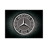 Magnet logo Mercedes 8 x 6