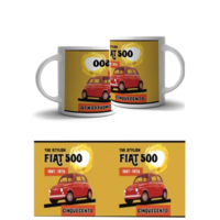 Lot de 2 mugs Fiat 500