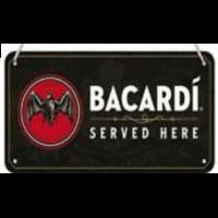Plaque Bacardi 20 x 10