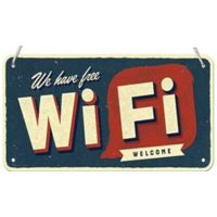Plaque à suspendre Free Wifi