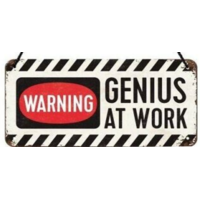 Plaque à suspendre Genius at work 20 x 10